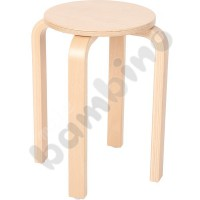 Wooden stool - height: 46 cm
