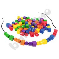 Wooden lacing beads - big set