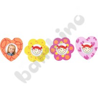Magentic photo frame - flowers and hearts