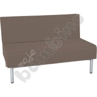 Inflamea 1 sofa, double - light brown