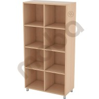 Tall cabinet with 3 shelves and partitions