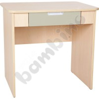 Quadro - desk with wide drawer - beige