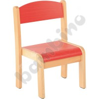 Philip chair red with felt pads size 3