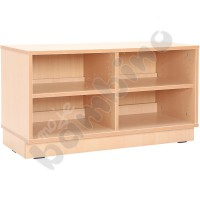 S cabinet with 1 shelf and partition with pilnth