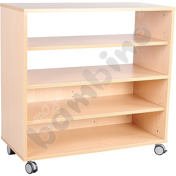 M cabinet with 3 shelves half open with wheels moje bambino for Sideboard 3 00 m