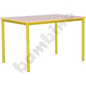 Common room table Mila 120 x 80 size 6 - yellow maple