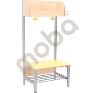 Flexi cloakroom with frame 2, height: 35 cm, yellow