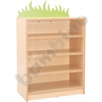 Cabinet for fabric containers with applique - grass