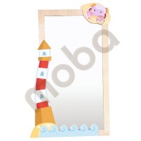 Decoration for mirror - Lighthouse and a crab